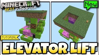 Minecraft Bedrock - ELEVATOR LIFT ⬆️( w/ Lock )⬇️[ Tutorial ] MCPE / Xbox / Windows / Switch