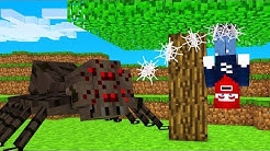 ICH KLEBE AM BAUM wegen OP SPINNEN! Minecraft