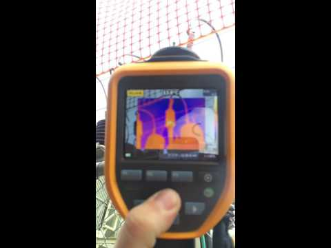 partial discharge, 33kv termination. infrared thermal camera.