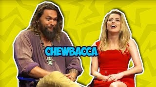 Jason Momoa Makes Amber Heard Laugh So Hard (AQUAMERA)