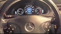 How to set the clock on a 2003 Mercedes Benz E320
