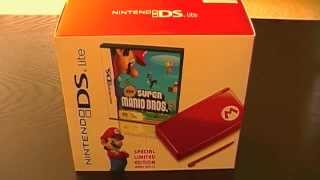 Mario Red Nintendo DS Lite Unboxing