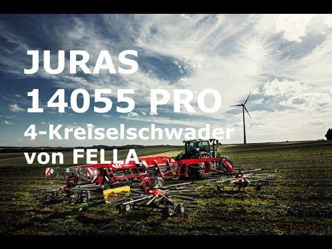 Fella Juras 14055 Pro 4-Kreiselschwader mit 14,00 m Arbeitsbreite