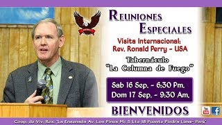 Visita Internacional WMO - Rev. Ronald Perry - USA  - Domingo 17.09.17