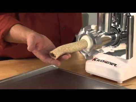 kitchener #12 electric meat grinder - 1/2 hp - youtube