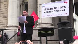 Robin Hood Tax Director Dave's Speech at 10YearsOn Rally