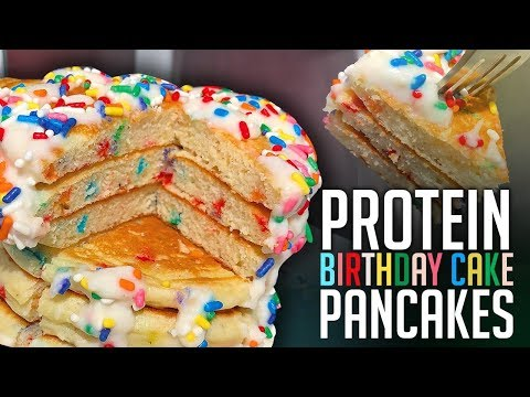 5 Minute Funfetti Protein Pancakes Recipe!
