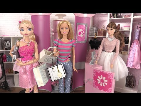 Barbie Shopping Mall Routine ♥︎ Barbie Clothes, Dresses, Shoes ♥︎ Dolls Story