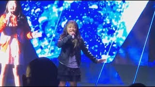 Angelica Hale: FIRST LIVE PERFORMANCE After AGT Singing Rise Up In NYC!
