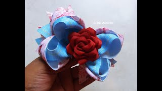 Laço Amora Sobreposto com Boutique e Rosa