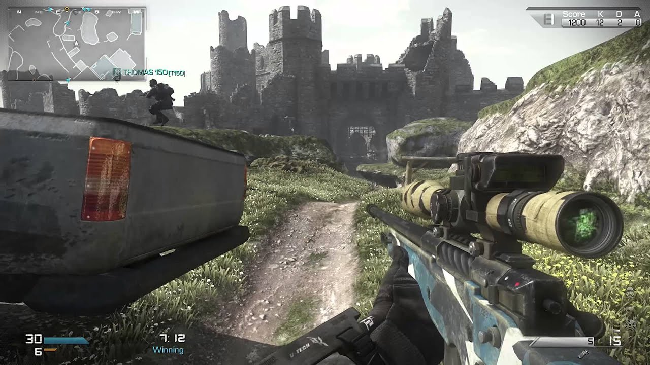CoD Ghosts L118 Chrome Barrel Road To Ghillie Suit