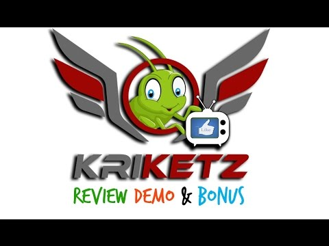 Kriketz Review Demo Bonus - Automated FB Live Reaction Software