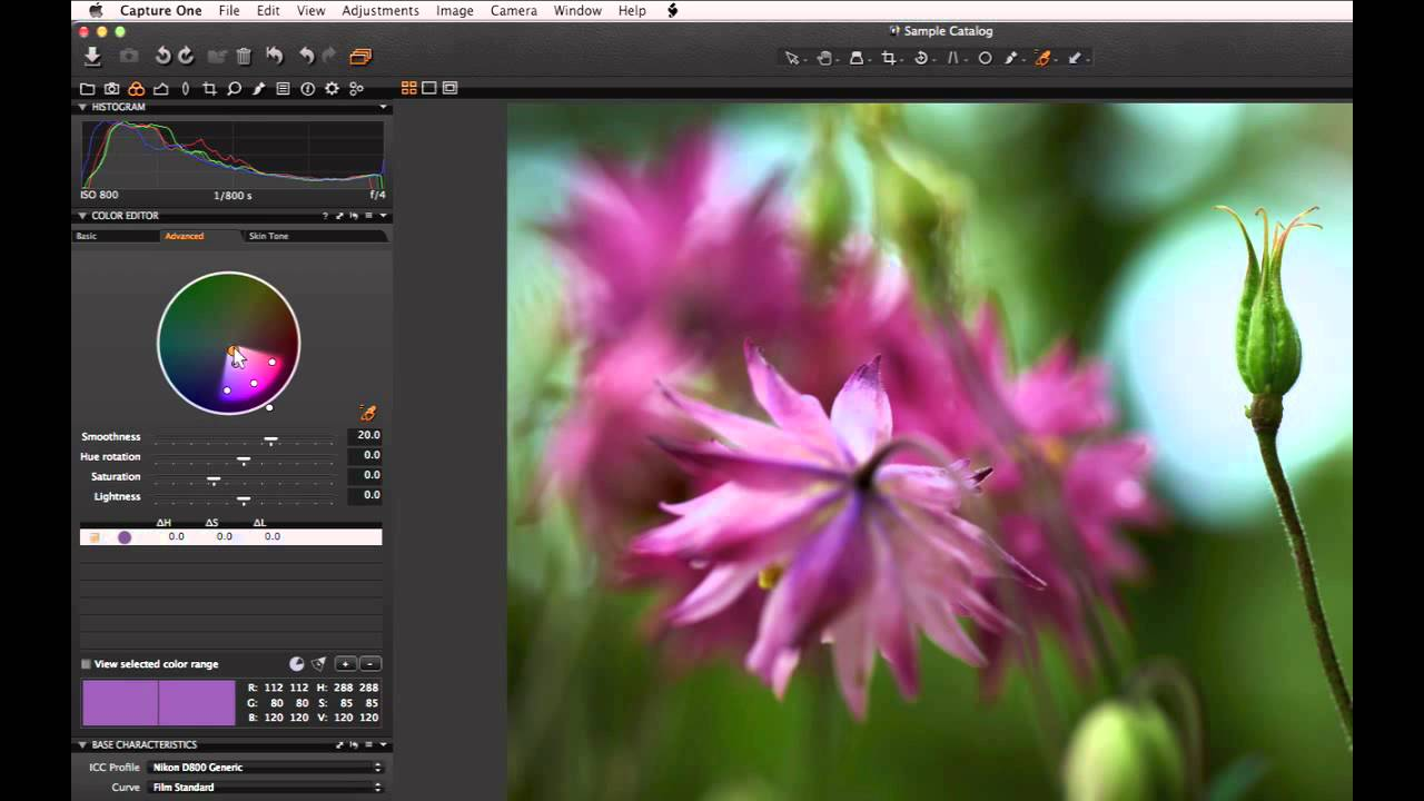 Color Editor In Capture One Pro 7 Phase One Youtube