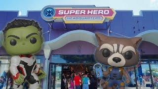 Marvel Super Hero Headquarters Funko Pop Hunting! Video