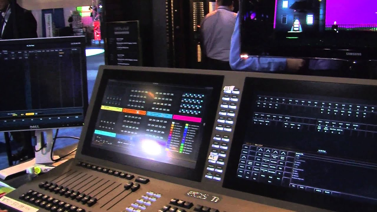 etc eos titanium ti lighting console youtube