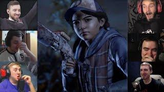 """""""Реакции Летсплейщиков"""" на Появление Клементины из The Walking Dead - A New Frontier"""