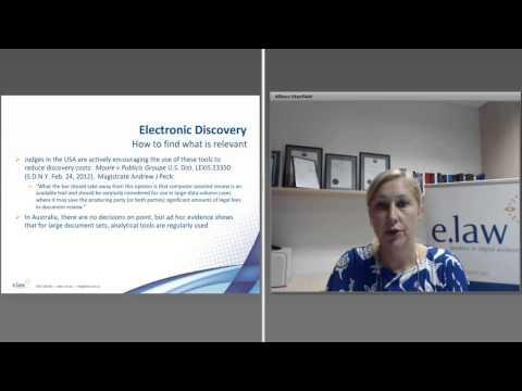 e.law CLE Webinar: E.Discovery & E.Courts. 25 Feb 2015