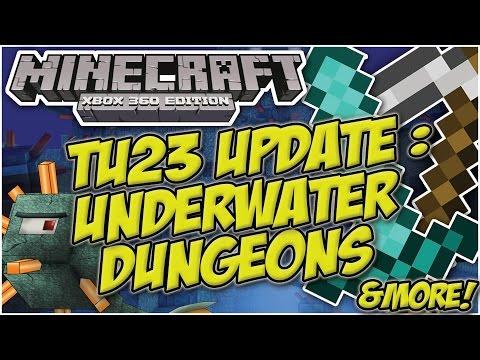 Minecraft Xbox & Playstation : TU23 UPDATE - UNDERWATER DUNGEONS | OCEAN MONUMENTS & MOBS!