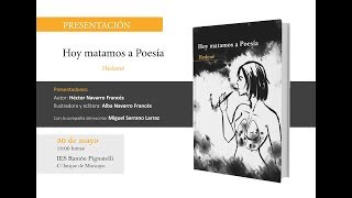 Presentación Hoy matamos a Poesía - Hedoné (30/05/18)