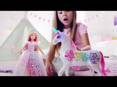 barbie-ballkleid-prinzessin-&-magisches-haarspiel-einhorn- -barbie-deutsch