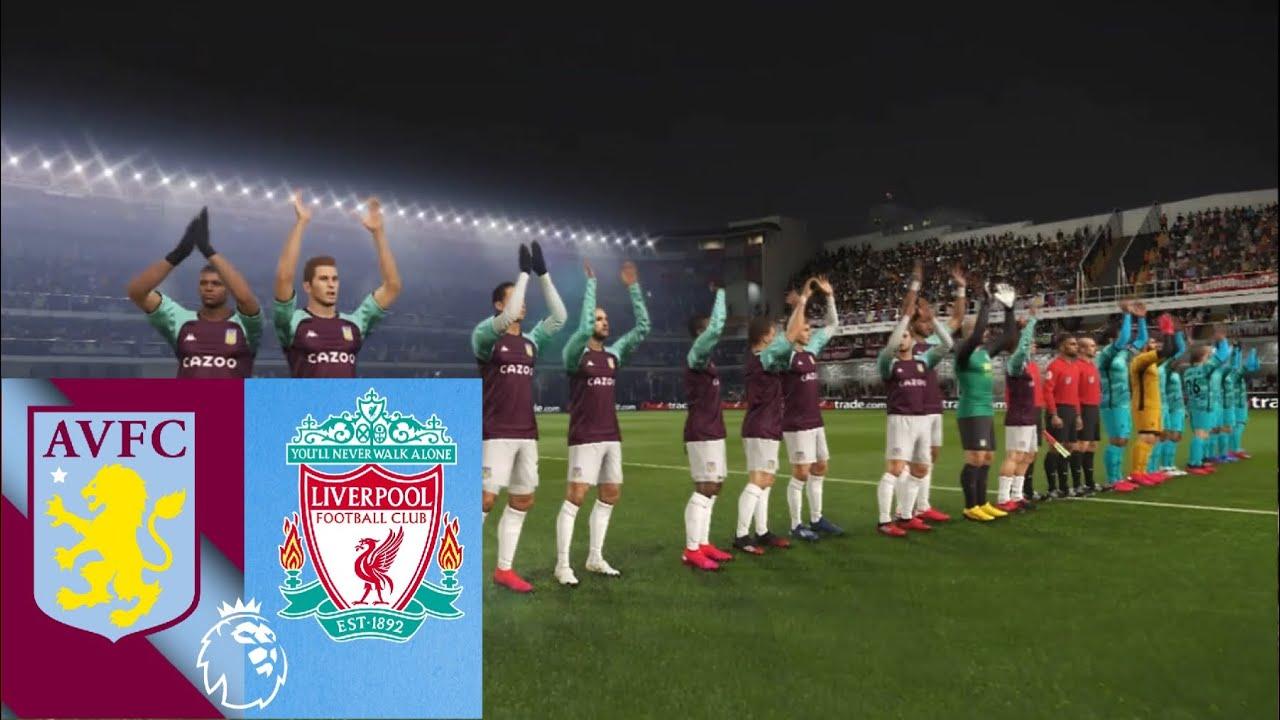 Aston Villa vs Liverpool FC premier league 4/10/2020 match ...