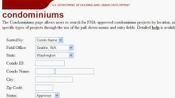 How to check for FHA-approved condos on the HUD website