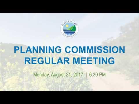 Malibu Planning Commission Meeting August 21, 2017