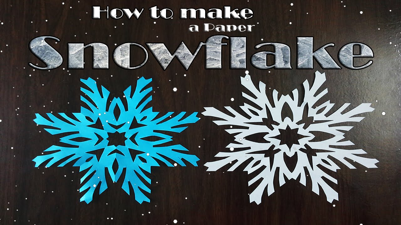 How to make paper snowflakes very simple christmas for How to make paper christmas decorations at home