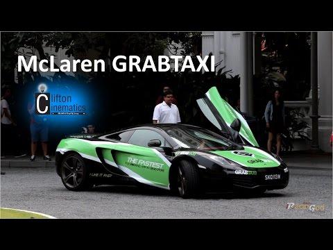 McLaren MP4-12C Taxi ! - GrabTaxi Singapore