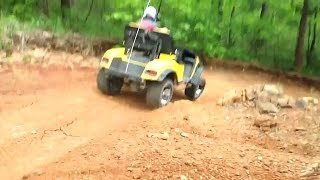 Redneck, White-Trash, Golf Cart Off-Roading, Mudding, Crashing & Bashing #3