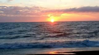 Неповторимые закаты Лазаревского, Сочи. Вечернее море 24 января 2013
