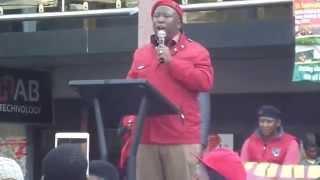 Julius Malema, EFF, giving speech at NMMU