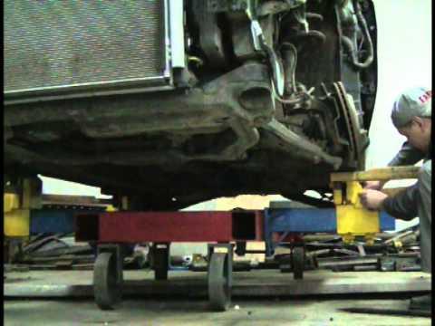 Установка автомобиля на стапель СУ-1. Силовая установка.