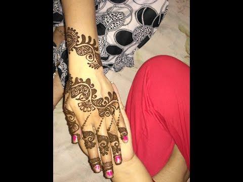 Step By Step Simple Arabic Heena Mehndi Designs For Hands 2017||Avni Mehndi Hands