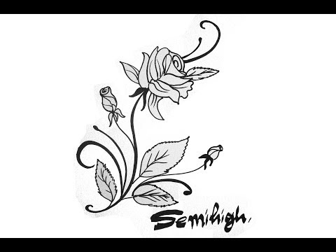 how-to-draw-realistic-rose-flower-|-rose-tattoo-|-easy-drawing-|-cool-drawing