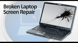 How to replace a laptop cracked screen in under 10 Minutes