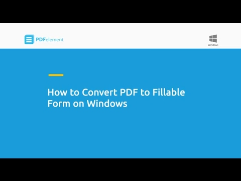 How to Convert PDF to Fillable Form on Windows - YouTube