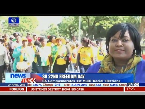 SA 22nd Freedom Day: South Africa Comemorate 1st Multi Racial Elections
