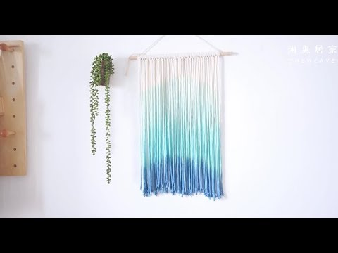 DIY Rèm trang trí đơn giản từ dây thừng