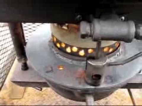Drip Feed Waste Oil Heater First Test Youtube