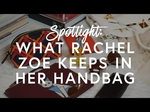 5 Things Rachel Zoe Always Keeps In Her Handbag | The Zoe Report by Rachel Zoe