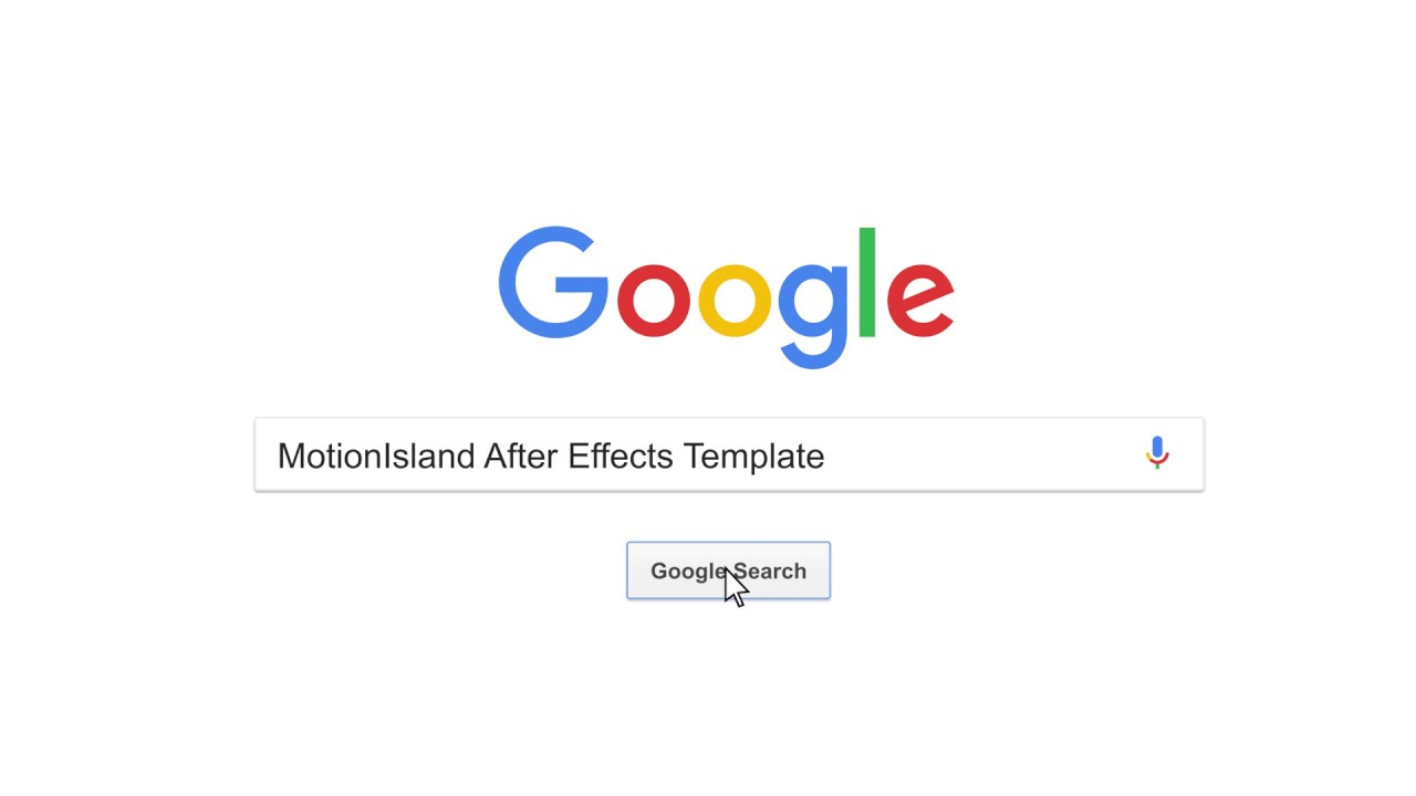 google search after effects template youtube