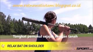 Cara memukul bola softball (how to hit a softball)