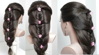 Cute & Easy Everyday  Hairstyle For Long Hair. Tutorial