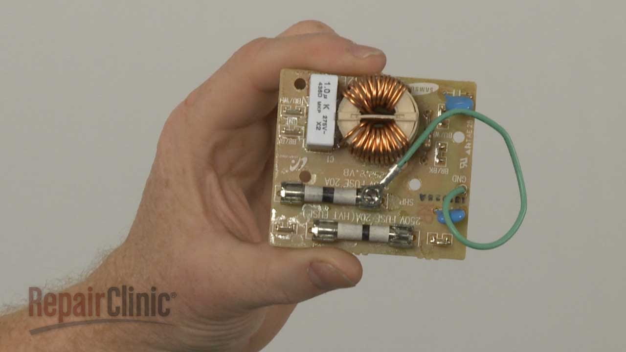 GE Microwave Noise Filter Replacement #WB02X20624  YouTube