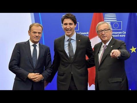 The EU and Canada sign historic CETA trade treaty - world