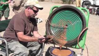 "Keene's New Gold Concentrating Wheel 25""  first field test"