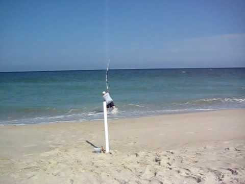 Surf fishing carolina beach nc july 09 youtube for Nc surf fishing report