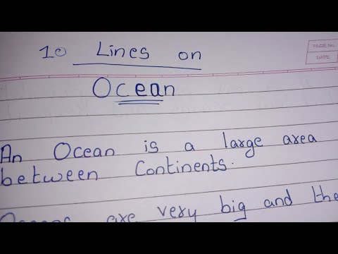 10 Lines on Ocean || Essay on Ocean