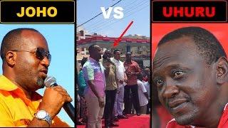 Joho Shares Platform With Uhuru and Destroys Uhuru's Fake Propaganda Projects